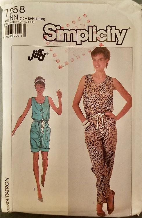 1987 Simplicity pattern #7958
