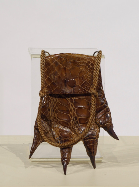 Crocodile Foot Purse, c. 1910