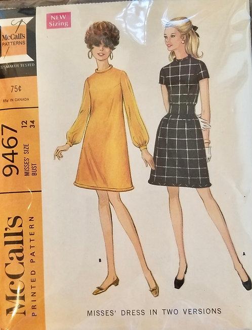 1968 McCall's dress pattern #9467