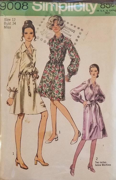 1970 Simplicity women's dress #9008