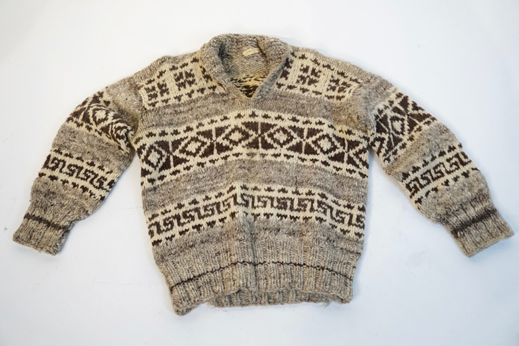 Cowichan Sweater, purchased 1949