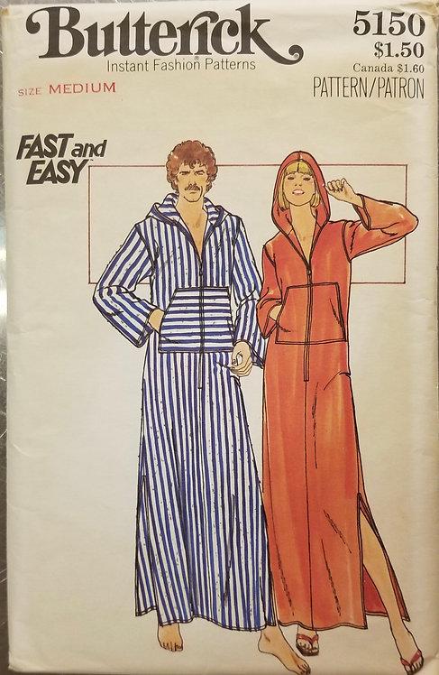 1977 Butterick unisexual caftan pattern #5150