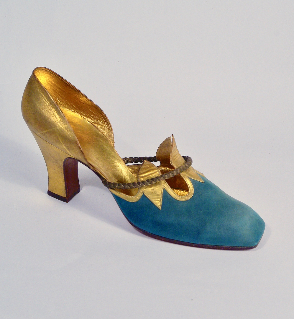 Suede and Kid Evening Pump by Perugia, late 1930s