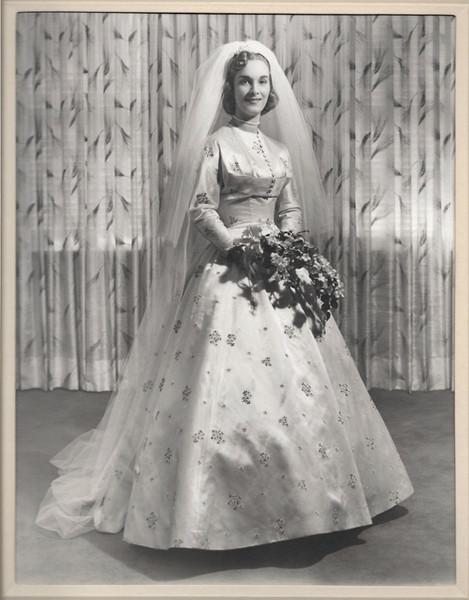 Photograph of Original Bride Wearing Dress, Montreal, 1955
