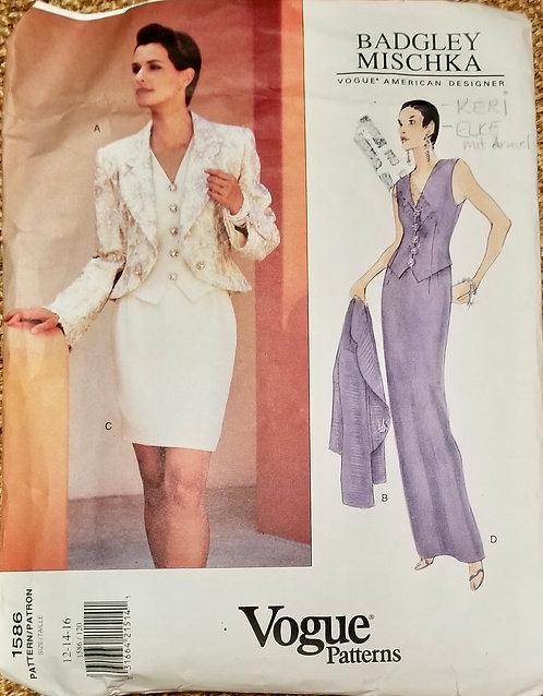1995  Vogue Badgley Mischka pattern #1586