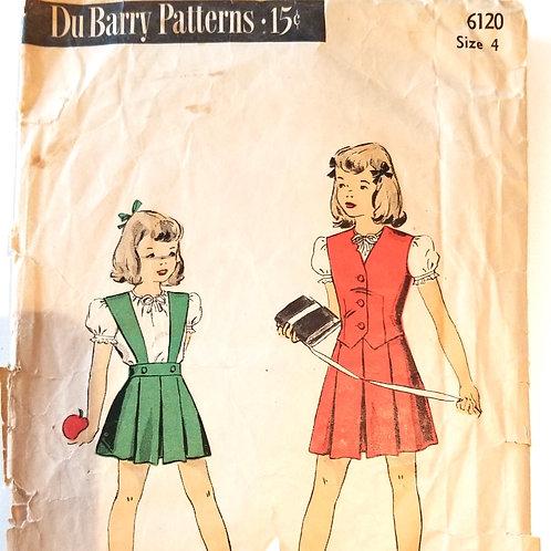 1945 DuBarry #6120 Girl's Blouse, Jumper & Vest