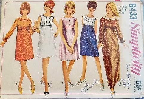 1965 Simplicity dress pattern #6433