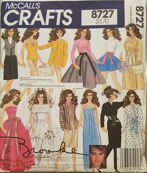 1983 McCall's doll clothes pattern #8727