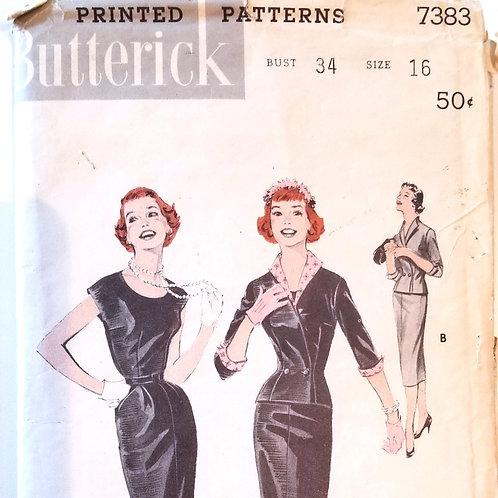 1955 (c.) Butterick #7383 Suit