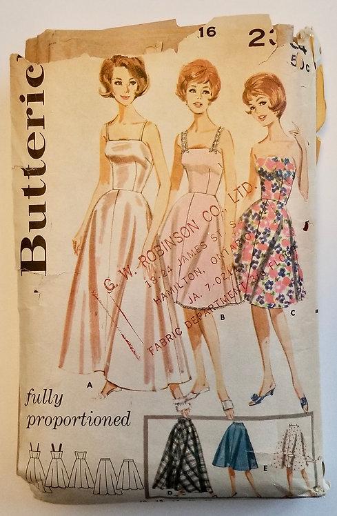1962 Butterick pattern # 2304 dresses