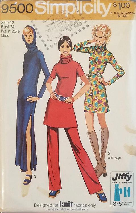 1971 Simplicity women's dress and pants #9500
