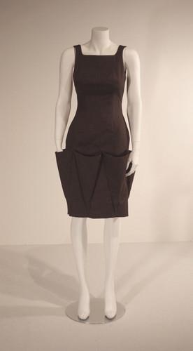 Brown Linen Dress with Triangular Pockets, Spring 2010