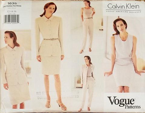 1995 Vogue Calvin Klein pattern #1635