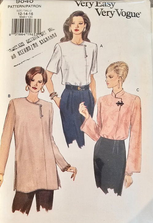 1994 Vogue blouse pattern #9040