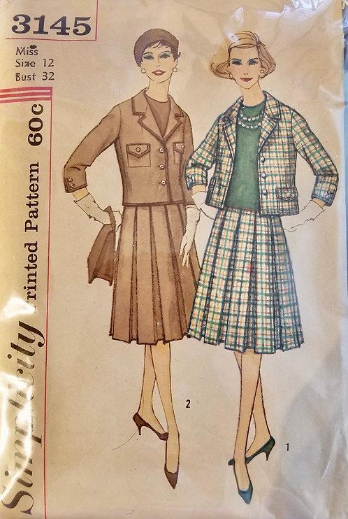 1950s (late) Simplicity suit pattern #3145