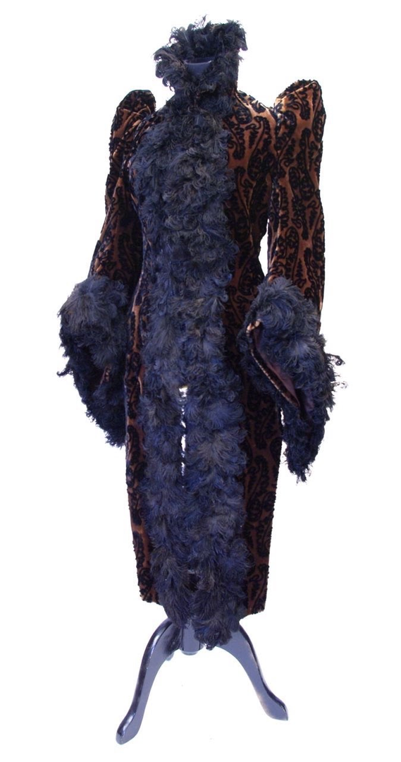 Velvet Mantle trimmed with Ostrich Tips by A. Guillot & Cie, Paris, c. 1890