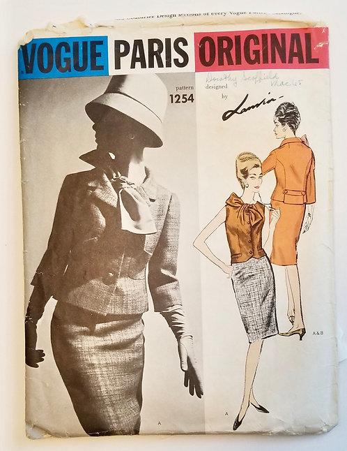 1965 Vogue Paris Lanvin Original #1254 suit