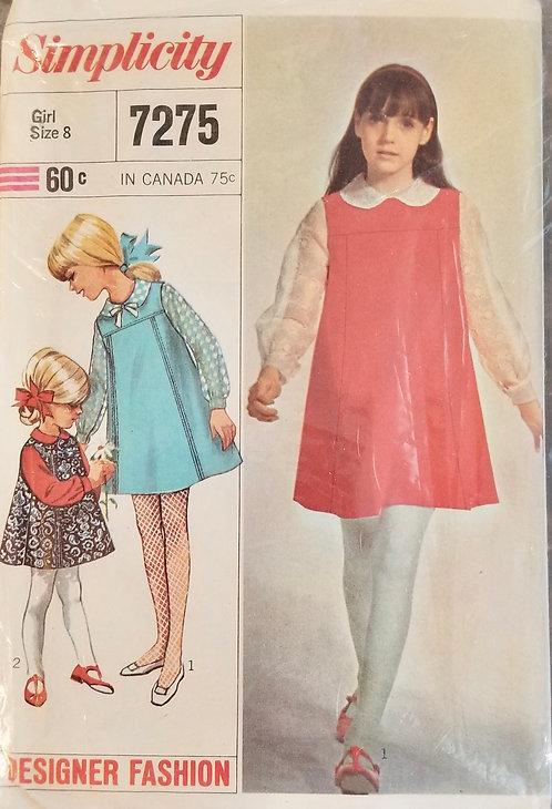 1967 Simplicity girl's dress #7275