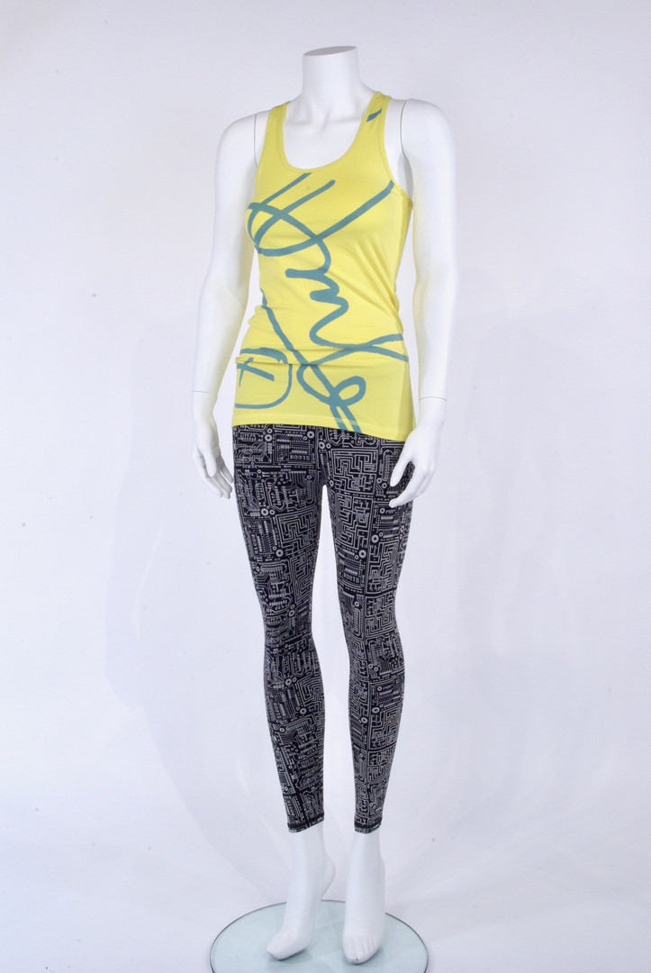 Motherboard Print Legging and Signature Print Top by Douglas Coupland for Roots, 2010