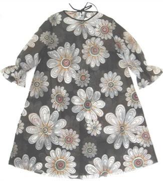 Floral Print Dress made of Spun Bonded Polyester Fibre, 1967
