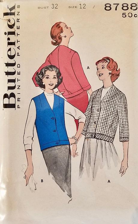 1959 jacket/vest pattern #8788
