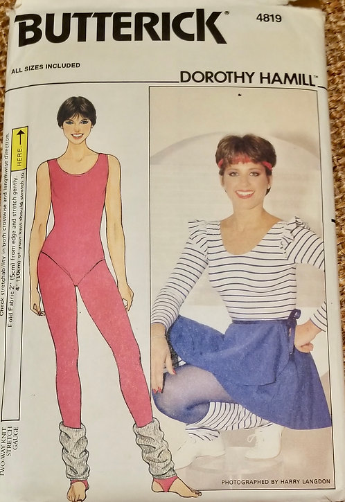 1977 (circa) Butterick Dorothy Hamill exercise outfit pattern #4819