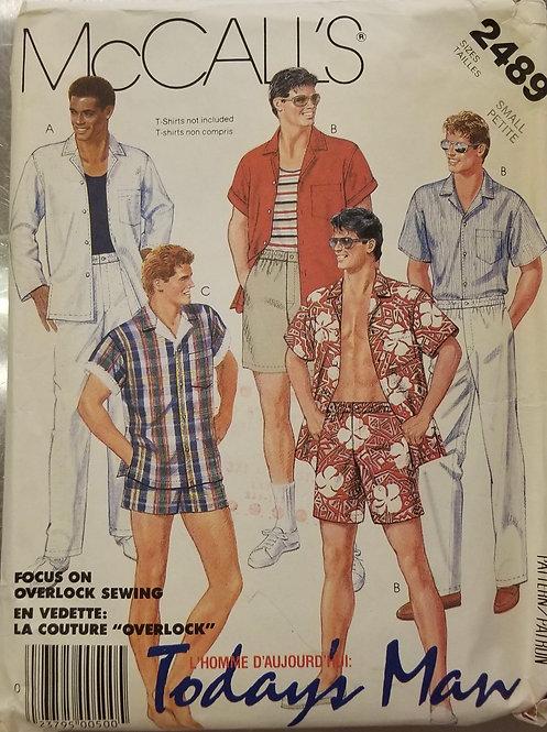 1986 McCall's men's shirt, pants and shorts pattern #2489