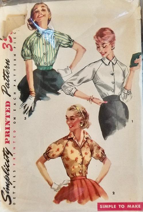 1956 circa Simplicity blouse pattern #1692