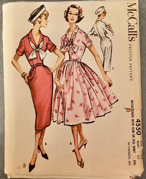 1958 McCall's pattern #4550 as is