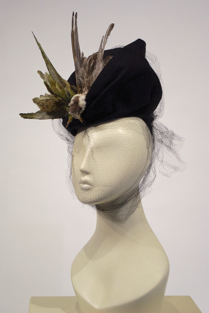 Belgian Hat with two 'bee-eater' Birds, c. 1945