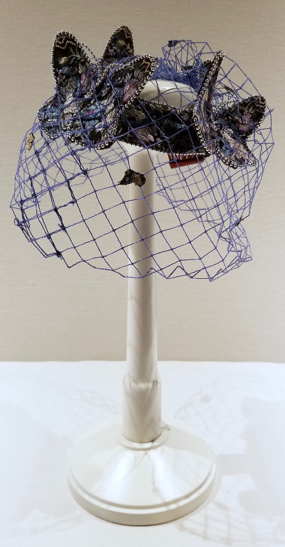 Brocaded Hat with Butterflies, c. 1962