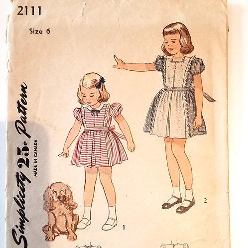 1947 Simplicity #2111, girl's dress