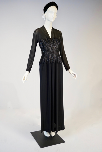 Jersey Chiffon and Cellophane Straw Evening Dress by Catherine Parel, Paris, Spring 1938
