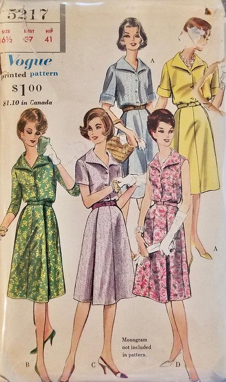1961 Vogue dress pattern #5217