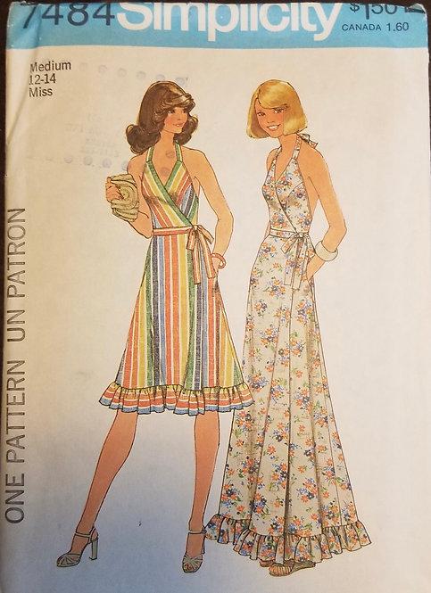 1976 Simplicity pattern #7484 dress
