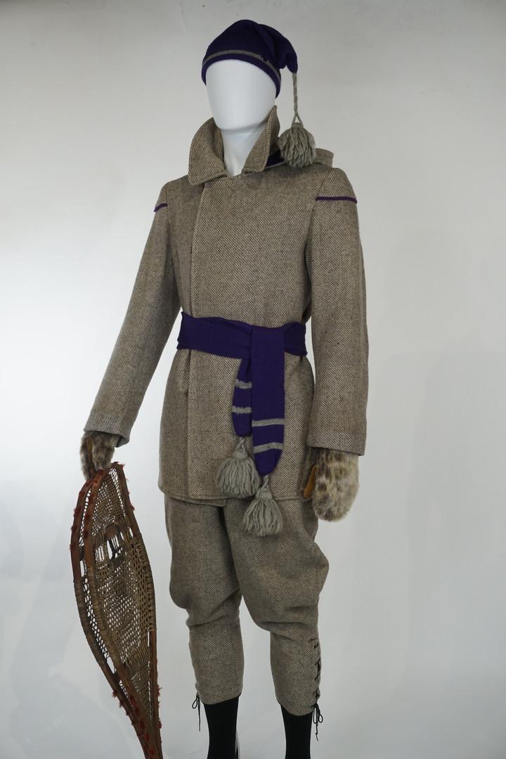Grey Wool Snowshoeing Suit by Grant, Holden, Graham Ltd., c. 1910, Ottawa, Ontario