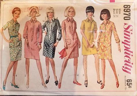 1967 Simplicity dress pattern #6970