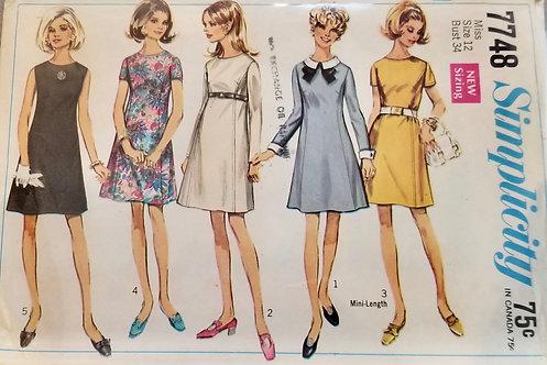1968 Simplicity dress pattern #7748