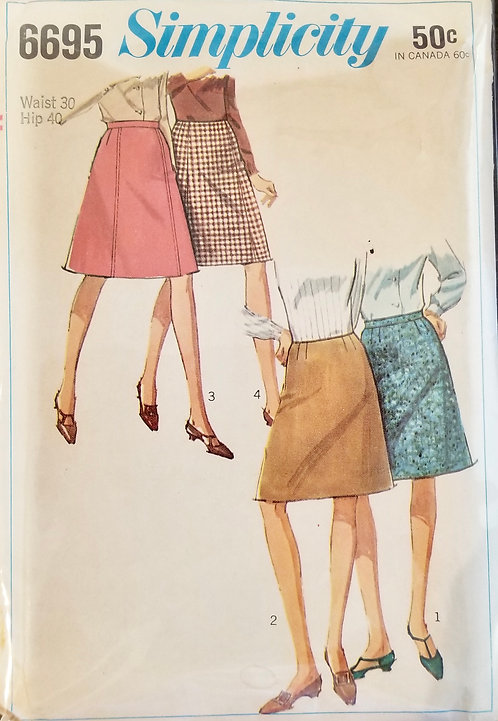 1966 Simplicity skirt pattern #6695