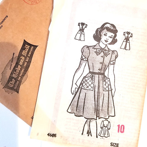 1952 Globe & Mail pattern #4605 for girl's dress