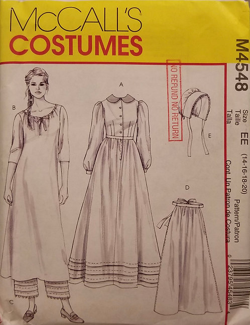 Early American McCall's costume pattern #M4548