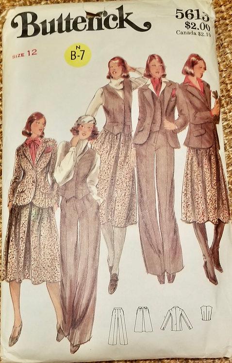 1977 Butterick suit pattern #5613