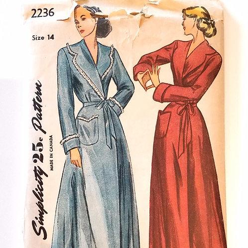 1947 Simplicity #2236 Housecoat