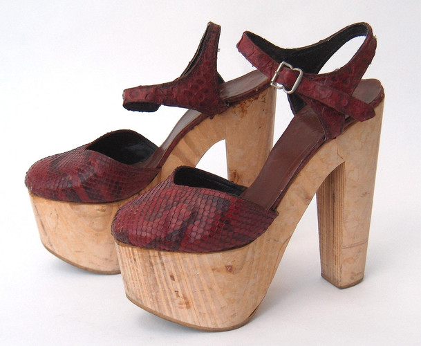 Dyed Python Snakeskin Shoes, c. 1975