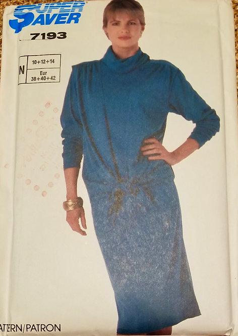 1985 Super Saver dress and over-vest pattern #7193