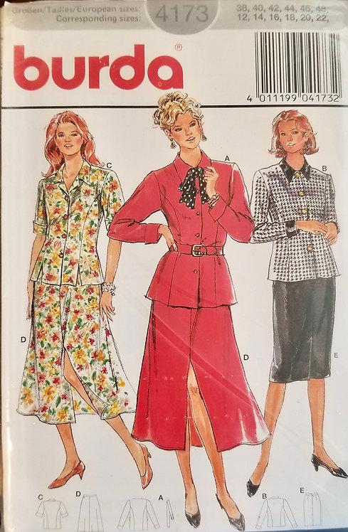 1993 Burda blouse and skirt pattern #4173