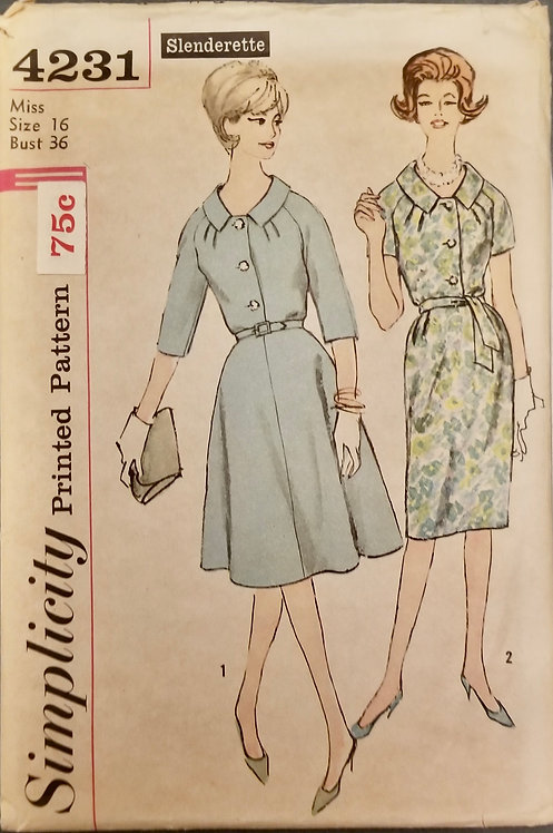 1962 Simplicity pattern #4231 as is