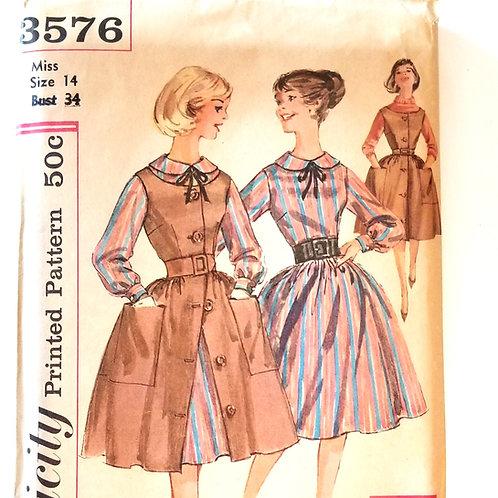 1960 (c.) Simplicity #3576 Dress/Jumper