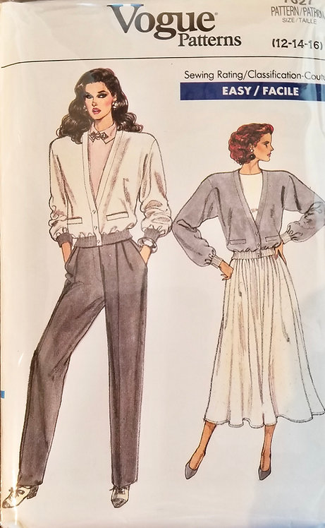 1987 Vogue separates pattern #7027
