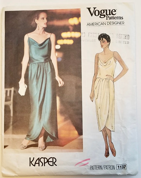 c. 1980 Vogue American Designer pattern #1137